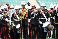 Twickenham, London, England. Sat 27th April 2013. The Royal Marine band during pre match entertainment at the Army v Navy Babcock trophy rugby. Credit for pictures to Jeff Thomas Photography - www.jaypics.photoshelter.com - 07837 386244 - Use of images are restricted without prior permission of the copyright owner Jeff Thomas Photography.