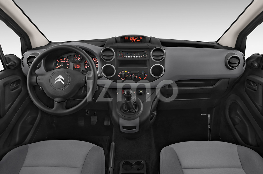 Stock photo of straight dashboard view of a 2015 Citroen BERLINGO 1.6 VT 4 Door Car Van Dashboard