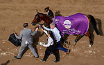 November 2, 2019 : Iridessa, ridden by Wayne Lordan, wins the Maker's Mark Breeders' Cup Filly & Mare Turf on Breeders' Cup Championship Saturday at Santa Anita Park in Arcadia, California on November 2, 2019. John Voorhees/Eclipse Sportswire/Breeders' Cup/CSM