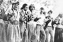 Iraq 1976 <br /> District of Berwari Bala, in  Babir, Nechirvan Ahmed,2nd left, teacher of the village dances with villagers   <br /> Irak 1976 <br /> Region de Berwari Bala, a Babir, Nechirvan Ahmed, instituteur du village, danse avec les villageois au cours d'un mariage