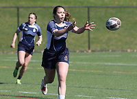 Penn State women's rugby Kyla Chipman against Rutgers 2 women's rugby during the Big Ten Women's Rugby 7's Tournament on April 9, 2017. Penn State won 73-0. Photo/©2017 Craig Houtz