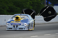 May 5, 2012; Commerce, GA, USA: NHRA pro stock driver Rodger Brogdon during qualifying for the Southern Nationals at Atlanta Dragway. Mandatory Credit: Mark J. Rebilas-