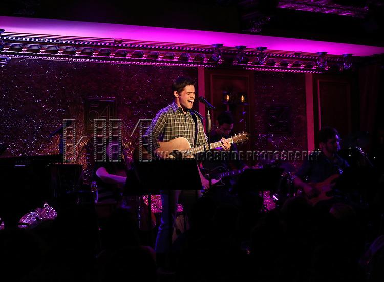 Jeremy Jordan performs 'Breaking Character' at 54 Below on November 12, 2014 in New York City.