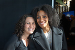 Pamela Shifman, Executive Director of the NoVo Foundation and Sarah Jones, a Tony- and Obie Award-winning American playwright, actress, and poet at the NoVo Foundation's Women's Building announcement at Chelsea Piers on October 26, 2015, in New York City, NY