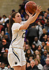 Jenna Annecchiarico #13 of Baldwin pulls up for a jumper during the Class AA varsity girls basketball Long Island Championship against Central Islip at SUNY Old Westbury on Saturday, March 11, 2017. She tallied 12 points and seven steals as Baldwin, who led by one point (31-30) late in the third quarter, used a 22-0 run spanning the third and fourth quarters en route to a 56-31 win.