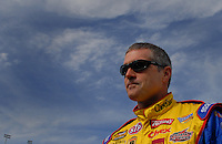 Feb 11, 2007; Daytona, FL, USA; Nascar Nextel Cup driver Bobby Labonte (43) during qualifying for the Daytona 500 at Daytona International Speedway. Mandatory Credit: Mark J. Rebilas..