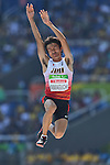 Mitsuo Yamaguchi (JPN), <br /> SEPTEMBER 11, 2016 - Athletics : <br /> Men's Lomg jump T44 Final <br /> at Olympic Stadium<br /> during the Rio 2016 Paralympic Games in Rio de Janeiro, Brazil.<br /> (Photo by AFLO SPORT)