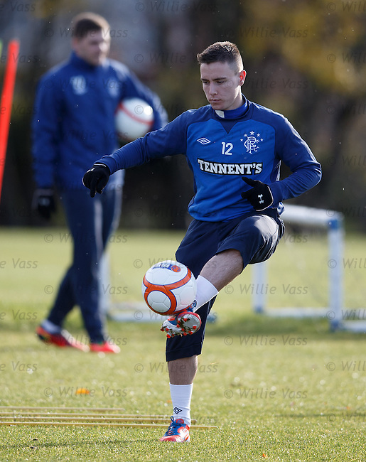 Barrie McKay practicing his cushioned volleys
