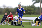 13 January 2015: Andy Craven (North Carolina). The 2015 MLS Player Combine was held on the cricket oval at Central Broward Regional Park in Lauderhill, Florida.