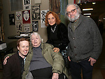 Cody Lassen, Elizabeth Ireland McCann, (Woman - TBD) and David Mandelbaum with Cast of acclaimed Broadway-bound play 'Indecent' meet their Off-Broadway counterparts in 'God of Vengeance' at La Mama on January 10, 2017 in New York City.