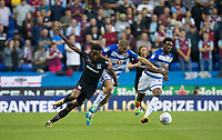 Joshua Onomah of Aston Villa battles Joey van den Berg of Reading during the Sky Bet Championship match between Reading and Aston Villa at the Madejski Stadium, Reading, England on 15 August 2017. Photo by Andy Rowland / PRiME Media Images.