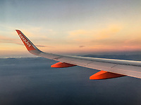 Easyjet A300 Series aircraft en route Belfast-Malaga, March, 2019, 201903043148.<br />
