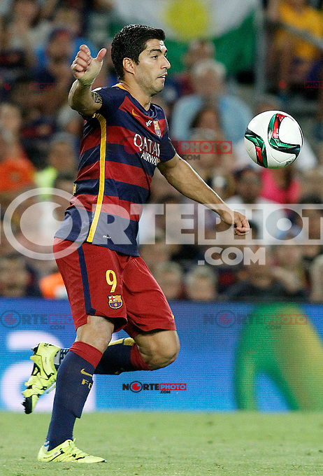 FC Barcelona's Luis Suarez during Supercup of Spain 2nd match.August 17,2015. (ALTERPHOTOS/Acero)