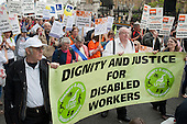 The Hardest Hit.  London march organised by the UK Disabled People's Council to protest at government cuts to disability benefits, allowances and services.