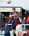 Forfar's Darren Dods challenges Stenny's Ross McMillan.