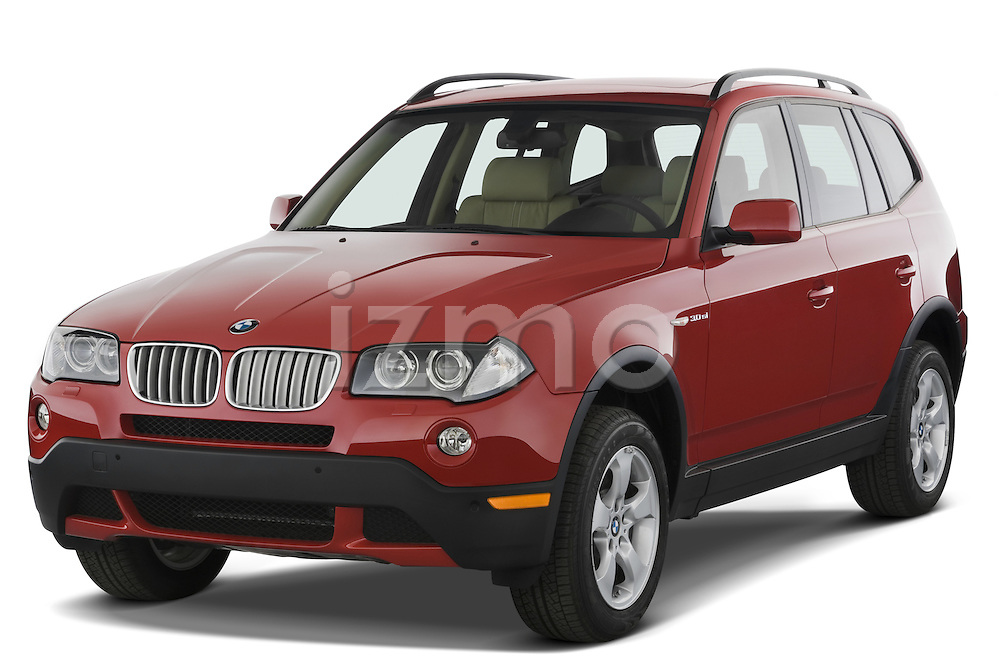 Front three quarter view of a 2008 BMW X3.