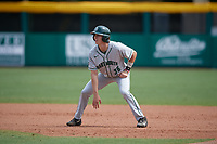 Dartmouth Big Green center fielder Trevor Johnson (36) leads off first base during a game against the USF Bulls on March 17, 2019 at USF Baseball Stadium in Tampa, Florida.  USF defeated Dartmouth 4-1.  (Mike Janes/Four Seam Images)