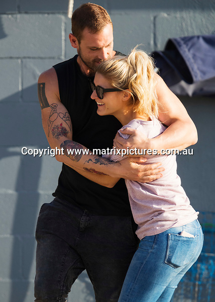 22 MAY 2017 SYDNEY AUSTRALIA<br /> WWW.MATRIXPICTURES.COM.AU<br /> <br /> EXCLUSIVE PICTURES<br /> <br /> Home &amp; Away filming at The Boathouse, Palm Beach with cast including Pia Miller, Sophie Dillman, Anna Cocquerel, Jake Ryan, Penny McNamee, Rohan Nichol and Kestie Morassi.<br /> <br /> Note: All editorial images subject to the following: For editorial use only. Additional clearance required for commercial, wireless, internet or promotional use.Images may not be altered or modified. Matrix Media Group makes no representations or warranties regarding names, trademarks or logos appearing in the images.