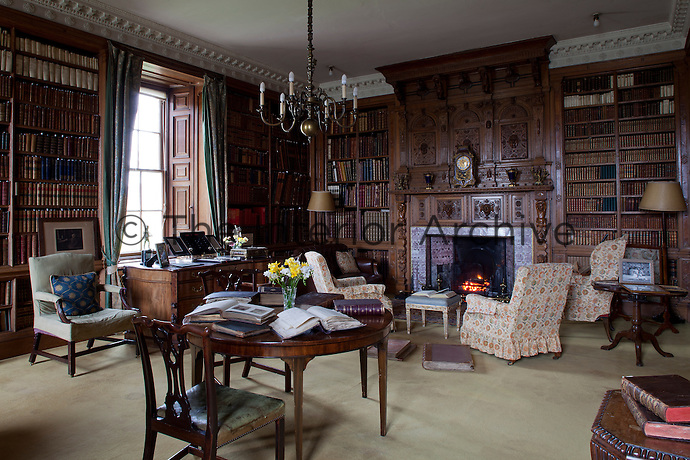 The Victorian laird, Robert Dundas, created a new library on the ground floor in 1868