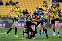 Hurricanes&rsquo; Nehe Milner-Skudder in action during the Super Rugby - Hurricanes v Blues at Westpac Stadium, Wellington, New Zealand on Saturday 7 July 2018.<br /> Photo by Masanori Udagawa. <br /> www.photowellington.photoshelter.com