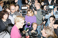 Democratic presidential candidate and Massachusetts senator Elizabeth Warren speaks to the media during a media avail after a Town Hall campaign event in the Granite State Room in the Memorial Union Building at the University of New Hampshire in Durham, New Hampshire, on Wed., October 30, 2019. Per the campaign, approximately 625 people attended the event, which was part of Warren's 20th trip to the state since Jan. 2019.
