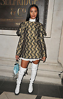 Maya Jama at the LFW (Men's) a/w 2019 GQ Dinner, Brasserie of Light, Selfridges, Duke Street, London, England, UK, on Monday 07 January 2019.<br /> CAP/CAN<br /> &copy;CAN/Capital Pictures