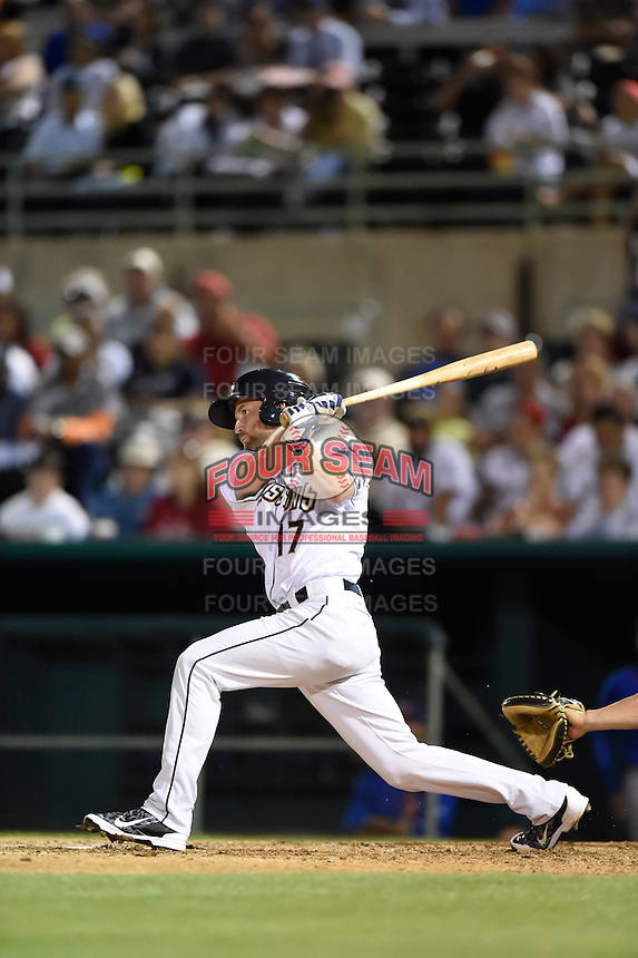 ***Temporary Unedited Reference File***San Antonio Missions catcher Rocky Gale (17) during a game against the Midland RockHounds on April 22, 2016 at Nelson W. Wolff Municipal Stadium in San Antonio, Texas.  San Antonio defeated Midland 8-4.  (Mike Janes/Four Seam Images)