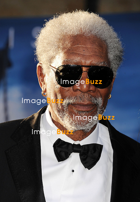 """Morgan Freeman arrives at the """" Oblivion """" - Los Angeles Premiere at Dolby Theatre on April 10, 2013 in Hollywood, California."""