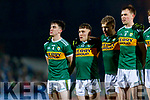 Brian Ó Beaglaíoch Dara Moynihan Peter Crowley Jack Barry Kerry players before the Allianz Football League Division 1 Round 3 match between Kerry and Dublin at Austin Stack Park in Tralee, Kerry on Saturday night.