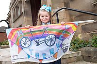 Picture by Allan McKenzie/SWpix.com - 15/05/2018 - Cycling - OVO Energy Tour Series Womens Race - Round 2:Motherwell - Hannah Duffy with her starting flag.