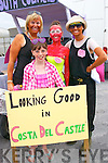 Eimear and Liz O'Donoghue, Marian Herlihy and Miriam Ferriter at the Castlegregory summer festival parade last Sunday.