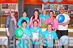 80'S TIME: The staff of Argos, Tralee having a 80's theme in aid of Alzheimer's on Saturday front l-r: Martin O'Sullivan, Lynda McCarthy and Padraig Buckley. Back l-r: Barry Fitzgerald (CSM manager), Mag Riely, Samantha Stackpoole, Karen Fitzgerald, Reresa O'Sullivan and Martin O'Neill.