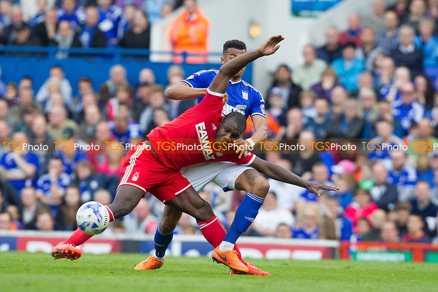 Tyrone Mings of Ipswich Town gets to grips with Michail Antonio, Nottingham Forest - Ipswich Town vs Nottingham Forest - Sky Bet Championship Football at Portman Road, Ipswich, Suffolk - 25/04/15 - MANDATORY CREDIT: Ray Lawrence/TGSPHOTO - Self billing applies where appropriate - contact@tgsphoto.co.uk - NO UNPAID USE