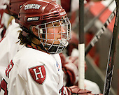 Alisa Baumgartner (Harvard - 27) - The Harvard University Crimson defeated the Boston College Eagles 5-0 in their Beanpot semi-final game on Tuesday, February 2, 2010 at the Bright Hockey Center in Cambridge, Massachusetts.