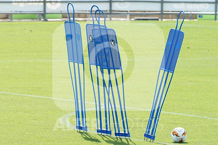 Getafe's sport equipment during training session. August 3,2020.(ALTERPHOTOS/Acero)
