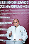 "BRUSSELS - BELGIUM - 24 March 2015 -- BOGK - German Association of the Fruit, Vegetable and Potato Processing Industry - Award ceremony ""Ambassador of Good Taste"". -- Award receiver Alfons SCHUHBECK, Restaurateur, one of Germany's top chefs.  -- Photo: Juha ROININEN / EUP-IMAGES"