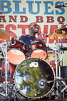 Cedric Burnside performs at the 2013 Blues & BBQ Festival in New Orleans, LA.