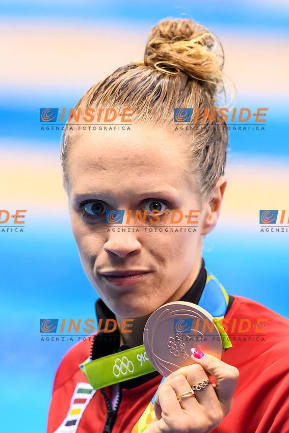 CALDWELL Hilary CAN Women's 200m Backstroke Silver Medal <br /> Rio de Janeiro 12-08-2016 Olympic Aquatics Stadium <br /> Swimming Nuoto <br /> Foto Andrea Staccioli/Deepbluemedia/Insidefoto