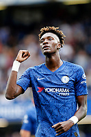 Tammy Abraham of Chelsea salutes fans during the Premier League match between Chelsea and Sheff United at Stamford Bridge, London, England on 31 August 2019. Photo by Carlton Myrie / PRiME Media Images.