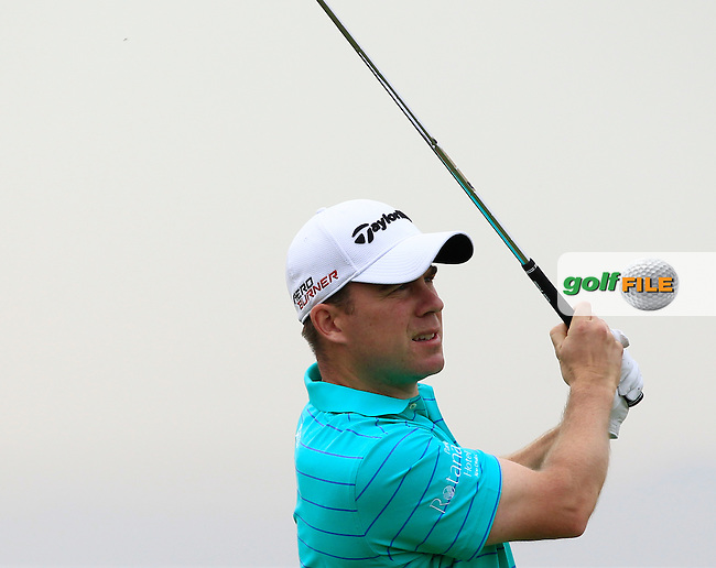 Richie Ramsay (SCO) on the 13th tee during Round 1 of the Open de Espana  in Club de Golf el Prat, Barcelona on Thursday 14th May 2015.<br /> Picture:  Thos Caffrey / www.golffile.ie