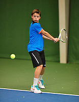 November 30, 2014, Almere, Tennis, Winter Youth Circuit, WJC, Freek van Donselaar    Kaj van den Heuvel<br /> Photo: Henk Koster