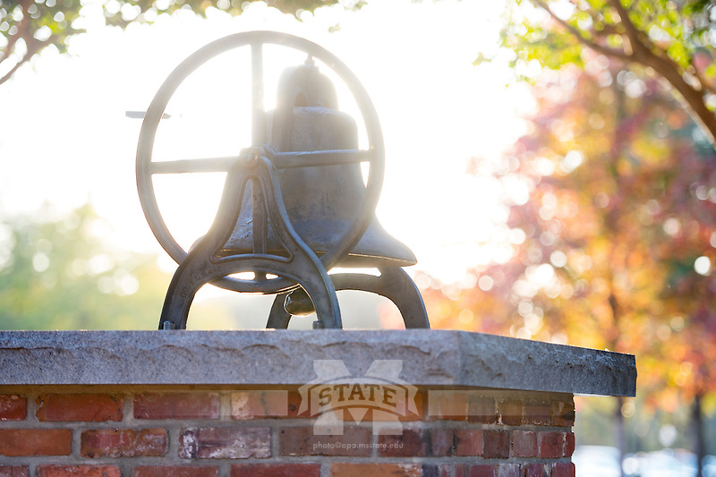 Bell of Bell Island with fall leaves.<br />  (photo by Megan Bean / &copy; Mississippi State University)