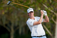 November 14, 2010: Webb Simpson on the 18th tee of the Magnolia course during third round golf action from The Children's Miracle Network Hospitals Classic held at The Disney Golf Resort in Lake Buena Vista, FL.