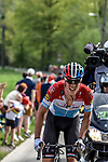 Luxembourg Champion Bob Jungels (LUX) Quick-Step Floors attacks during the 104th edition of La Doyenne, Liege-Bastogne-Liege 2018 running 258.5km from Liege to Ans, Belgium. 22nd April 2018.<br /> Picture: ASO/Karen Edwards | Cyclefile<br /> <br /> <br /> All photos usage must carry mandatory copyright credit (&copy; Cyclefile | ASO/Karen Edwards)
