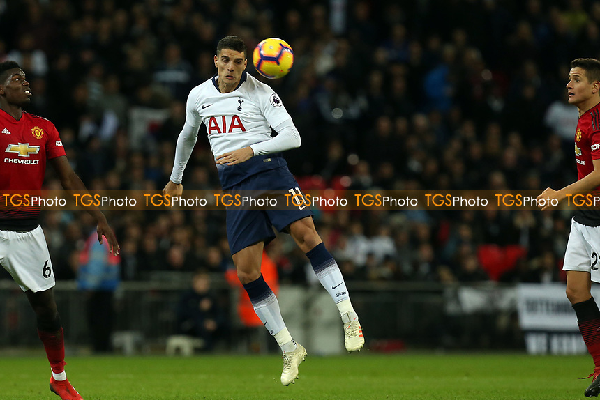 Erik Lamela of Tottenham Hotspur during Tottenham Hotspur vs Manchester United, Premier League Football at Wembley Stadium on 13th January 2019