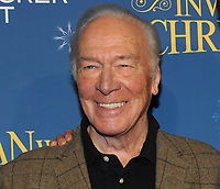 NEW YORK, NY - NOVEMBER 12: Christopher Plummer attends 'The Man Who Invented Christmas' New York Screening at Florence Gould Hall on November 12, 2017 in New York City. <br /> CAP/MPI/JP<br /> &copy;JP/MPI/Capital Pictures