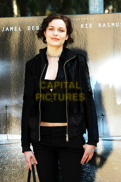 "RIE RASMUSSEN.Photocall for ""Angel-A"" at Casa Del Cinema, Rome, Italy..March 13th, 2006.Ref: CAV.half length black jacket.www.capitalpictures.com.sales@capitalpictures.com.© Capital Pictures."