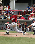 June 6, 2004:  Melvin Dorta of the Harrisburg Senators, Eastern League (Doube-A) affiliate of the Montreal Expos (Washington Nationals) during a game at Jerry Uht Park in Erie, PA.  Photo by:  Mike Janes/Four Seam Images