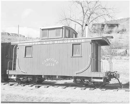 Short caboose #0578 at Colorado Railroad Museum.<br /> D&amp;RGW  Colorado Railroad Museum, Golden, CO  Taken by Payne, Andy M. - 3/2/1974