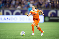 Orlando, Florida - Saturday, April 23, 2016: Houston Dash midfielder Andressa Machry (17) during an NWSL match between Orlando Pride and Houston Dash at the Orlando Citrus Bowl.